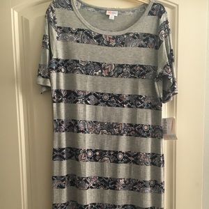 NWT Unicorn LuLaRoe Striped Julia XL